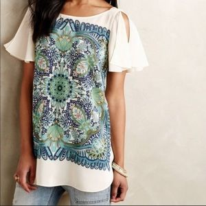 Maeve for Anthropologie Ludovica silk tunic